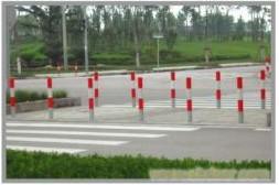 上海交通分道柱