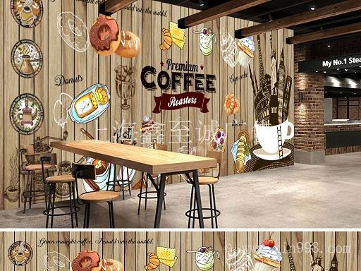 嘉定区简约咖啡店设计/嘉定区白领咖啡馆装潢/嘉定区欧美风咖啡馆室内装修