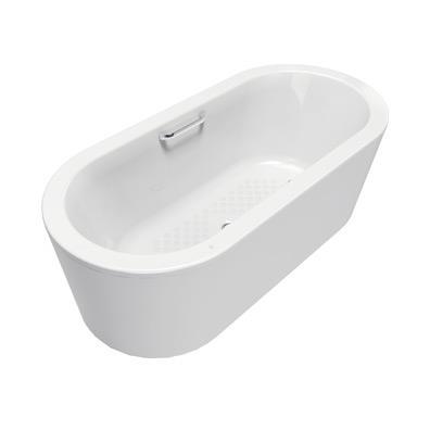 阿卡西亚1.6米铸铁独立式浴缸(带单把手)