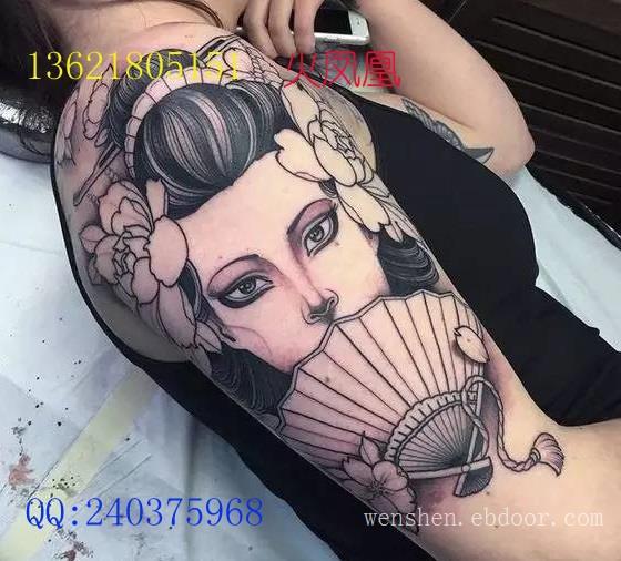 日本艺伎纹身图案大全