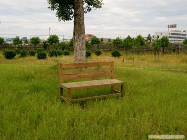 浦东防腐木家具-三人靠椅加工
