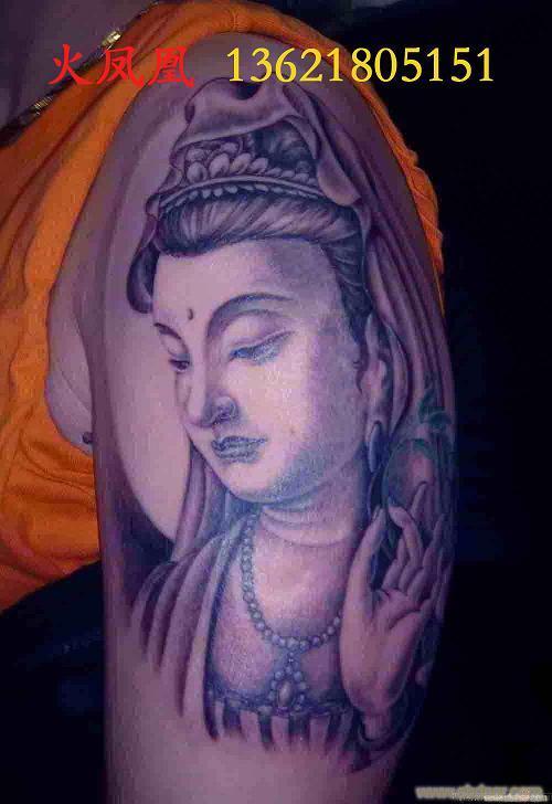 观音踏龙纹身,关公踏龙纹身,云中龙纹身图案图片