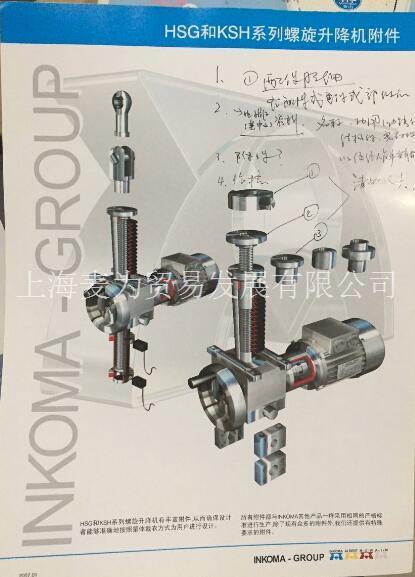 INKOMA-HSG和KSH系列螺旋升降机附件