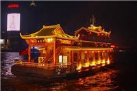 上海黄浦江游船,黄浦江游览, 秦淮河号-中式仿古游船
