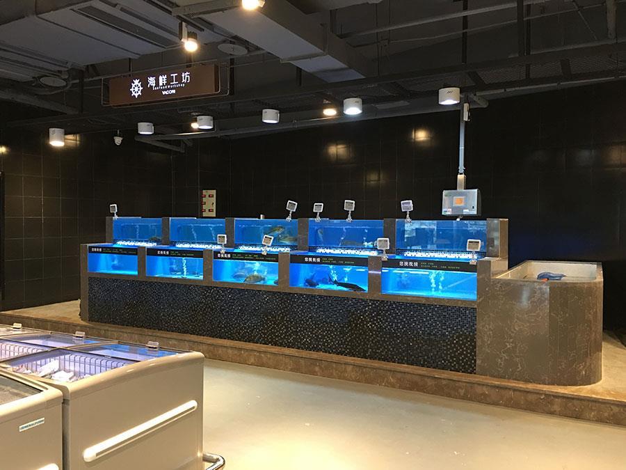 泰州海鲜池鱼缸定制