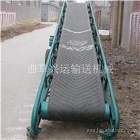 防滑不锈钢食品皮带输送机 0.6米宽钢丝绳升降9米长皮带机