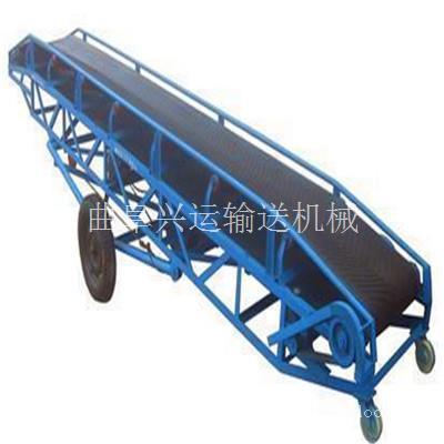 来阳定制不同带宽长度粮食传送机 加工可电动升降传送机