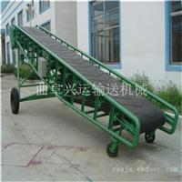 可移动麻包袋装车皮带输送机 9米长电动升降圆管输送机
