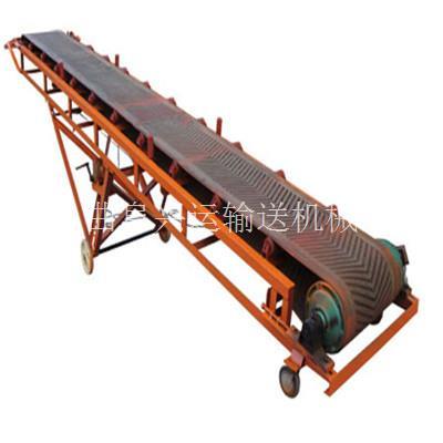 10米PVC白色防滑皮带输送机 小型移动式带式传送机