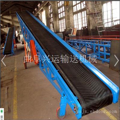 多用途电动皮带输送机 兴运热销65公分带宽钢丝绳升降传送机