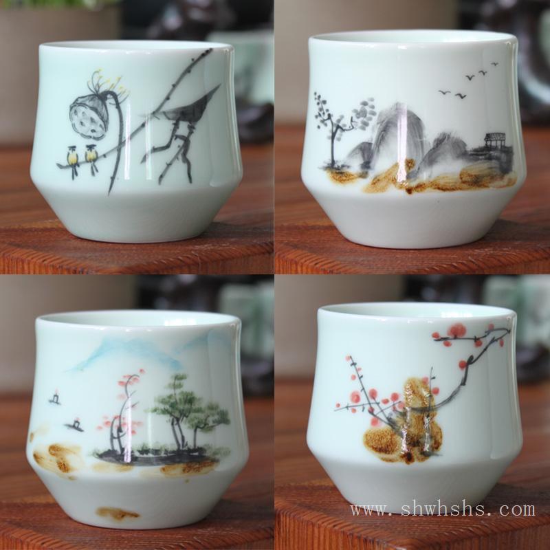陶瓷杯画价格-六安陶瓷杯画批发