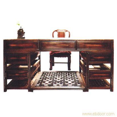 仿古书桌3,仿古书桌3相关信息 上海东阳木雕仿古家具厂