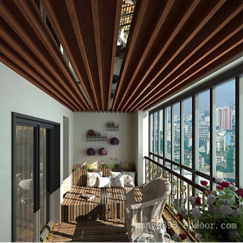 商场不规则吊顶仿木纹铝方通  型材铝方管厂家