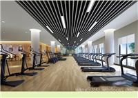 健身房仿木纹吊顶铝方通  型材铝方通定制