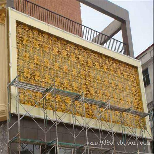 厂家定制造型铝单板—门头镂空铝单板装饰