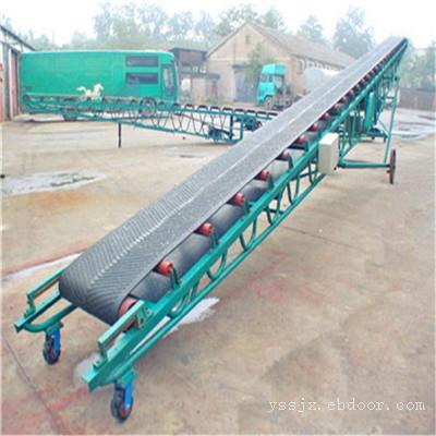 9米长圆管护栏流水线移动式胶带输送机 厂家