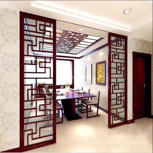 仿古木纹铝窗花  安徽古典铝屏风定制  铝窗花来图定制