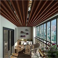 主题餐厅热转印铝方通吊顶 环保铝方管装饰  质量保证铝方通