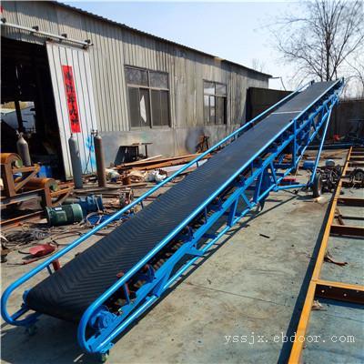 兴运工厂定制5米长各种带宽橡胶输送机 可整机移动方便快捷