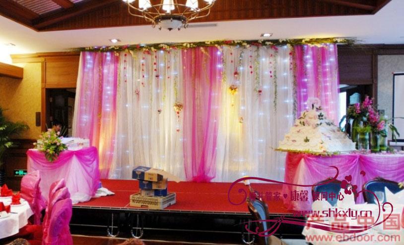 上海婚礼策划背景布置bj--019