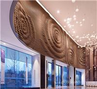 商场入口大厅弧形铝方通-口子型铝方管幕墙