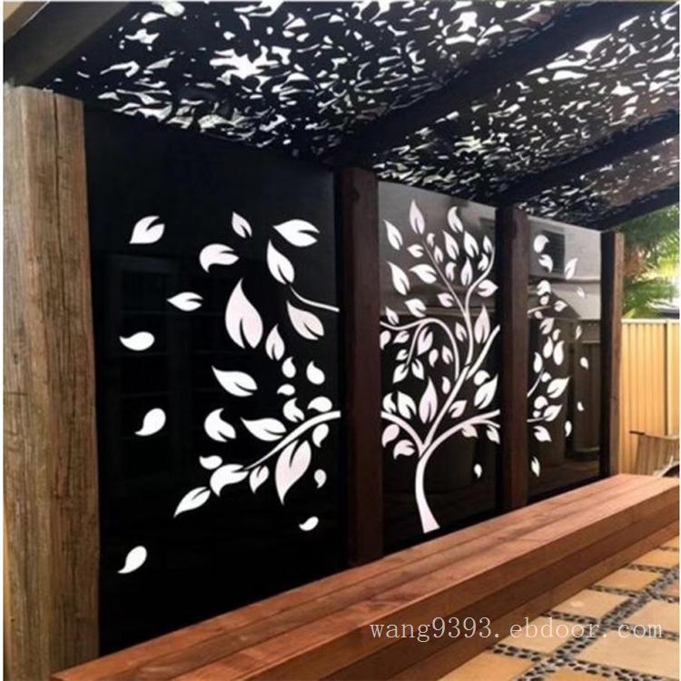 外墙新颖金属防火镂空雕花铝单板装饰—不规则冲孔雕花铝板幕墙效果图
