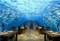 海洋主题餐厅设计定制-海景观赏亚克力鱼缸厂家