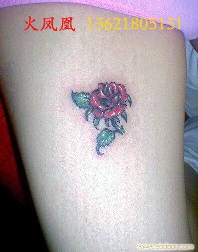 火凤凰-上海专业纹身室; 玫瑰小纹身;