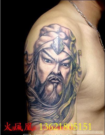 关公纹身图片2