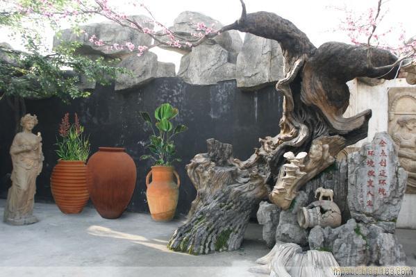 上海雕塑—仿真树