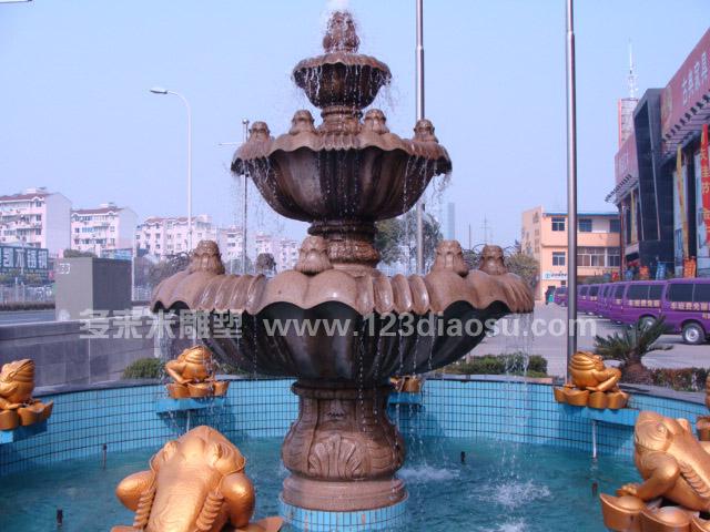 喷水池雕塑
