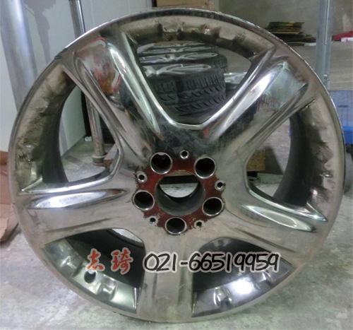 奔驰19寸 铝合金轮毂电镀加工 电镀轮毂翻新 轮毂黑电镀高清图片