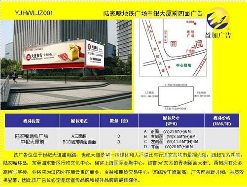 陸家嘴地鐵廣場中銀大廈前四麵戶外廣告