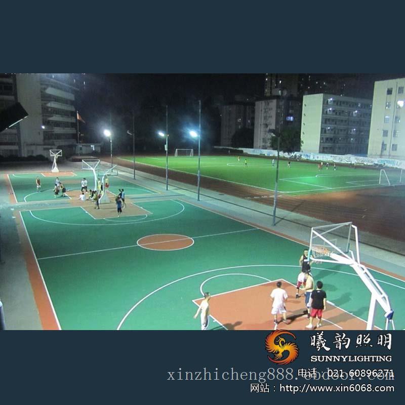 篮球场亮化照明施工
