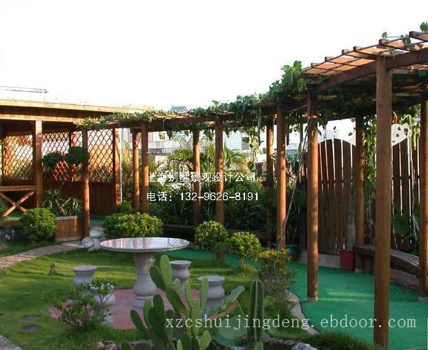 无锡屋顶花园仿古亭景观设计