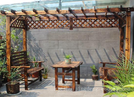 扬州防腐木凉亭景观小品工程
