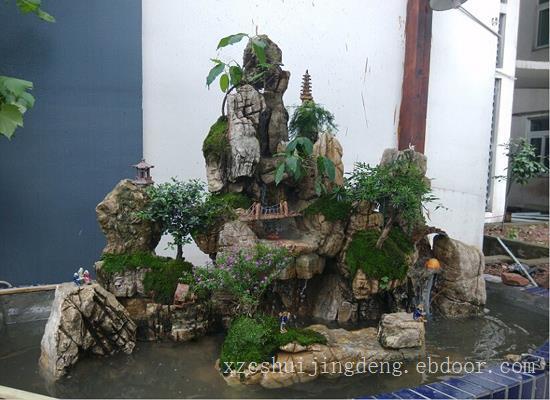 宁波假山流水喷泉小品设计