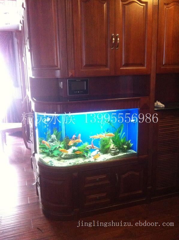 汉阳华润中央公园1.9米拐角实木鱼缸