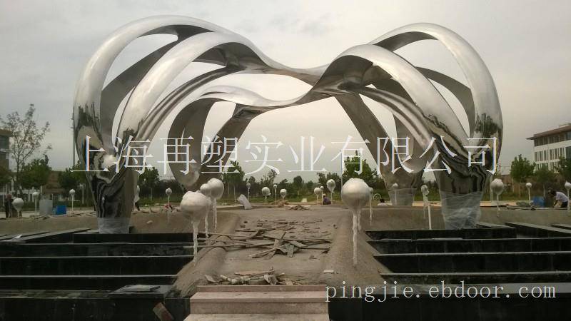 威海海洋学院大型不锈钢雕塑