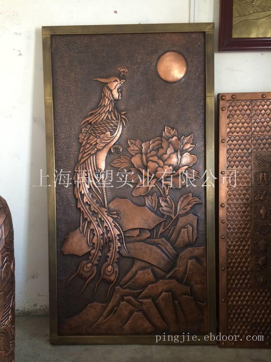 丹凤朝阳铜雕塑
