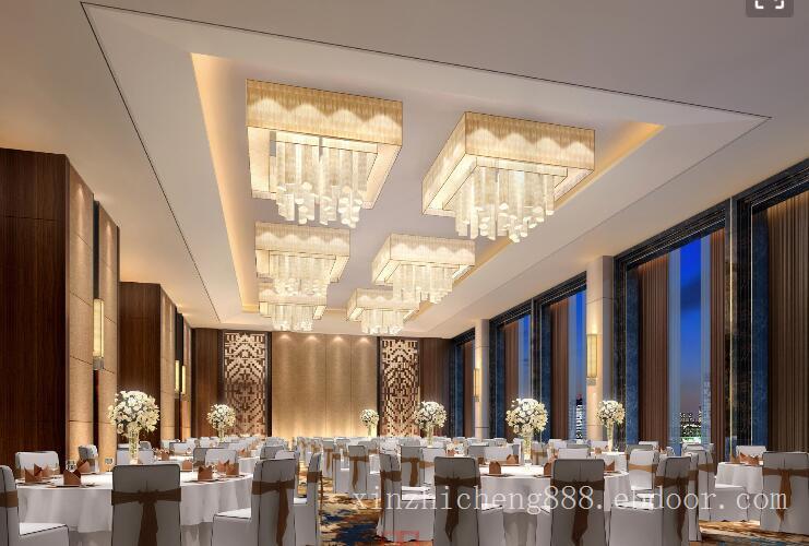 五星级酒店中餐厅灯光照明