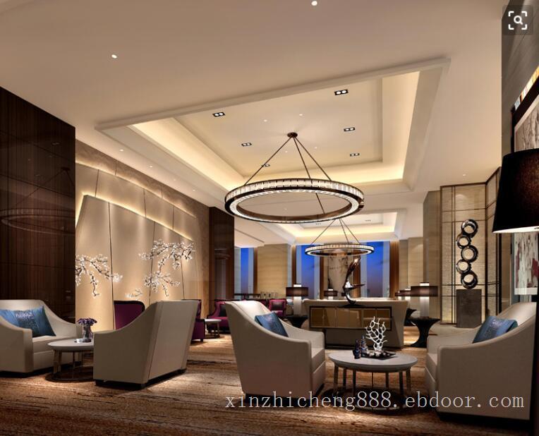 五星级酒店休息厅灯光照明